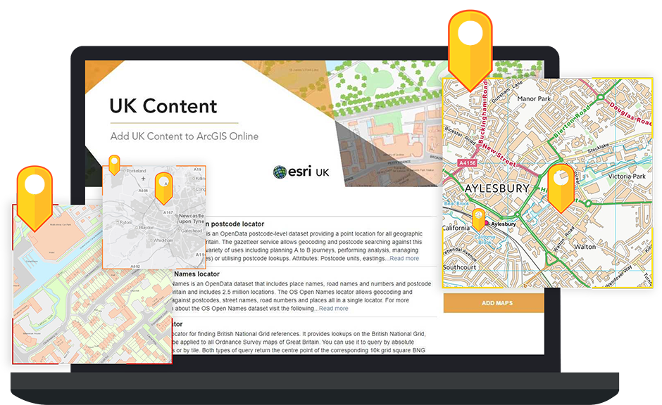 UK Content | Making it easier to use Esri UK Content Services