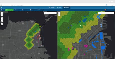 Improve your process by testing, assessing, and comparing impact in 2D or 3D using ArcGIS GeoPlanner