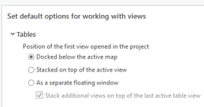 Image showing how you can specify which monitor you want Table View to open on