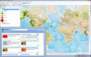Access online content directly from ArcGIS for Desktop.