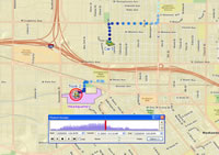 ArcGIS Tracking Analyst allows you to visualize and analyze the movement of resources.