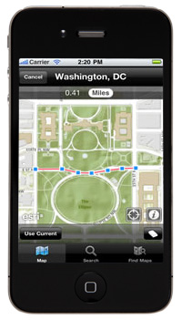 ArcGIS for iOS showing Washington, DC